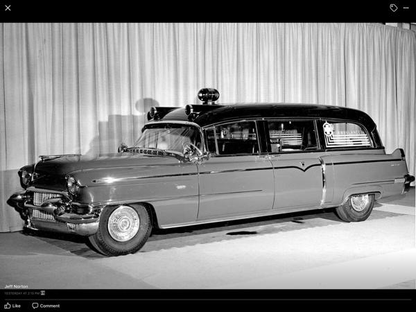 vintage Cadillac ambulance