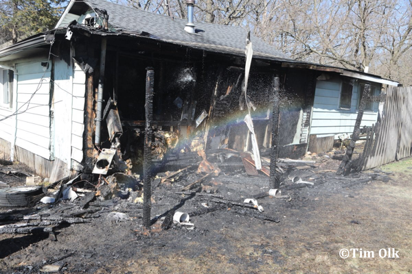 vacant house destroyed by fire