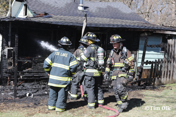Fox Lake firefighters at scene of vacant house fire