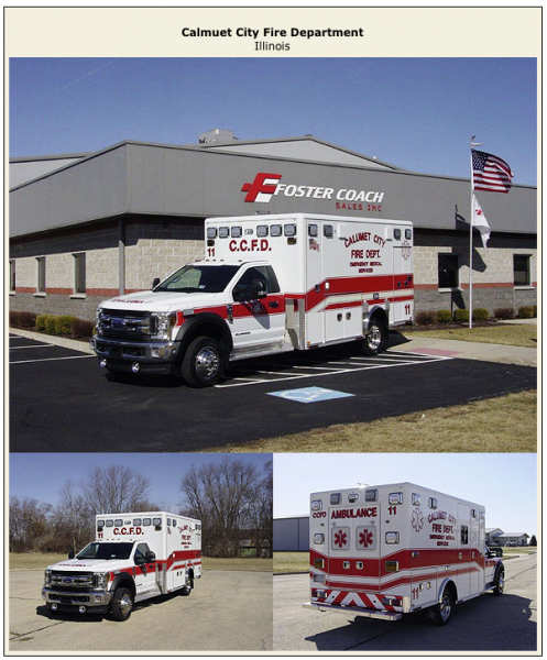 New ambulance for the Calumet City Fire Department