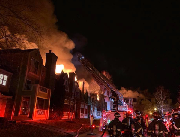 Massive fire destroyed an apartment building in Bayside, WI 3/30/19