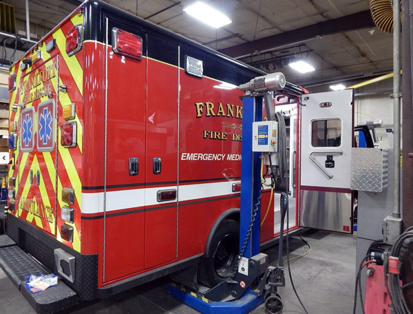 Frankfort FPD ambulance refurb