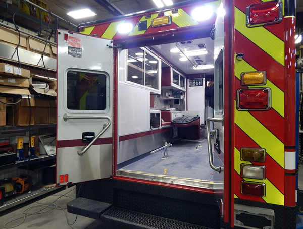 interior of Frankfort FPD ambulance