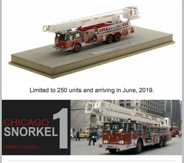 Chicago FD Snorkel 1 replica model