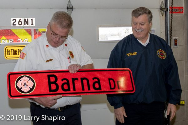 Buffalo Grove FD Battalion Chief Brian Barna retirement