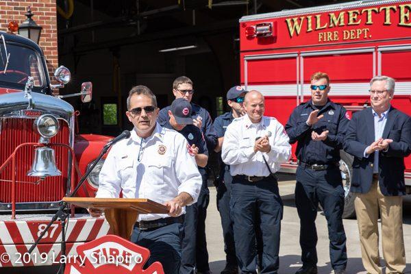 Wilmette FD Fire Chief Ben Wozney