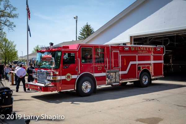Wilmette FD Engine 27 2019 Pierce Dash CF PUC
