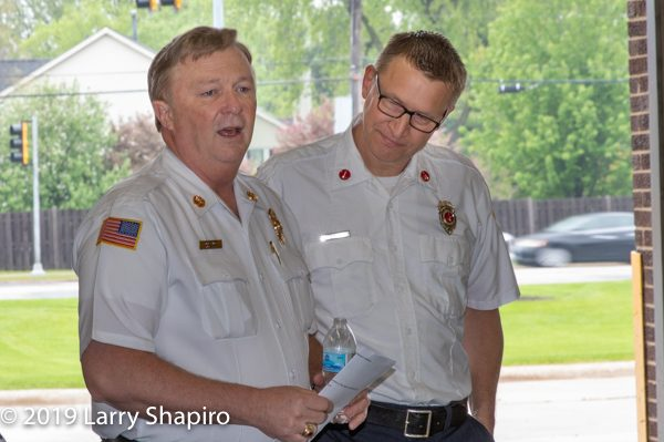 Buffalo Grover FD Chief Mike Baker and Lieutenant Mark Anderson