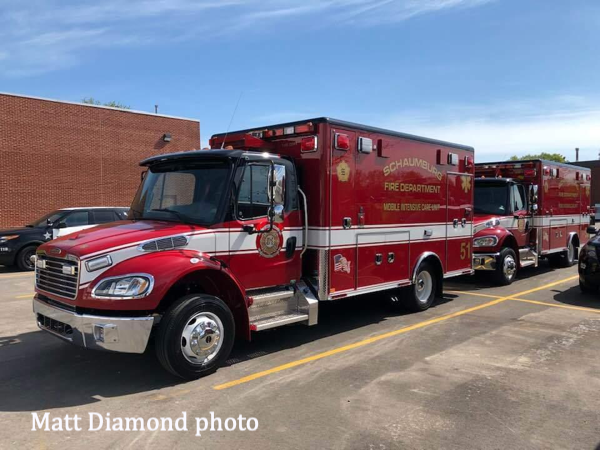 new ambulances for the Schaumburg Fire Department