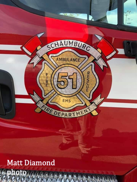 decal for Schaumburg FD Ambulance 51