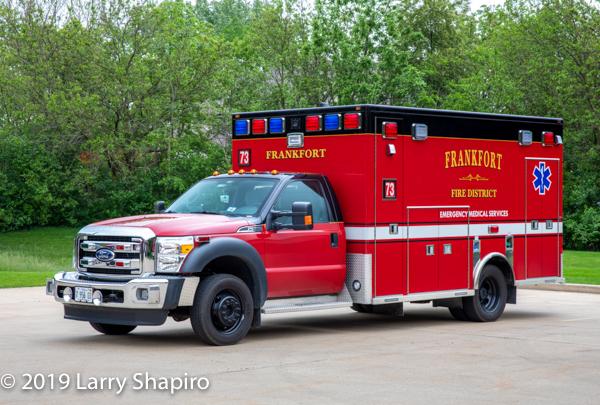 Frankfort FPD Ambulance 73 - 2015 Ford F550/Life Line Type I