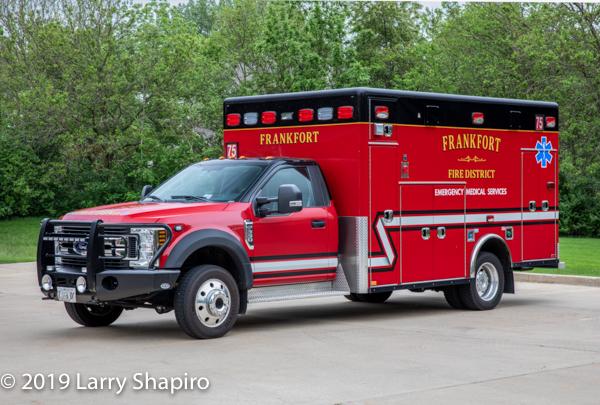 Frankfort FPD Ambulance 75 - 2018 Ford F550/Horton Type I