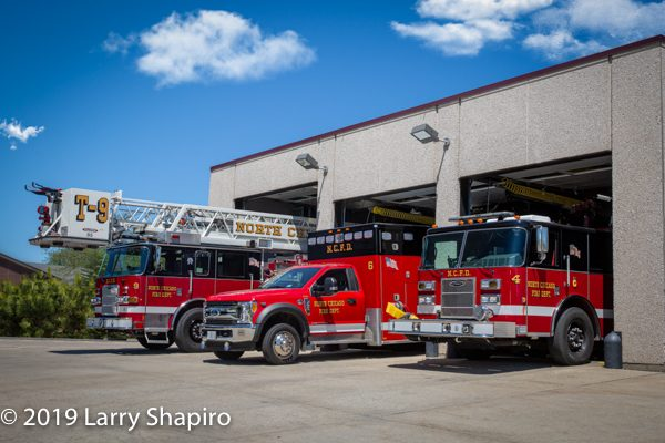 North Chicago FD apparatus at headquarters station