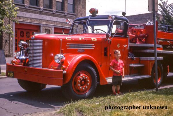 Vintage photo of Chicago FD H&L 49 circa 1950