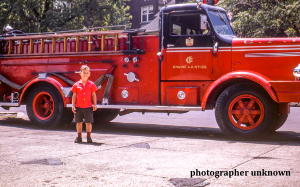 Vintage photo of Chicago FD Engine 126 circa 1950