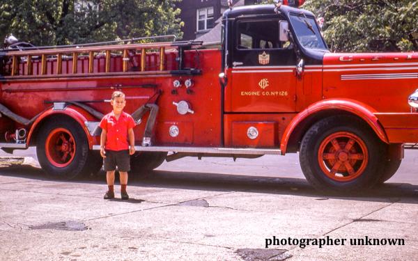 Vintage photo of Chicago FD Engine 126 circa 1950