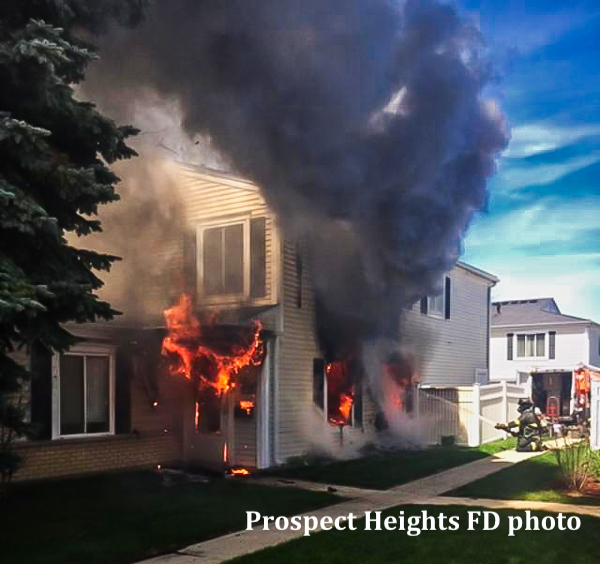Townhouse fire at 1535 Cove Dr in Prospect Heights 5-3-19