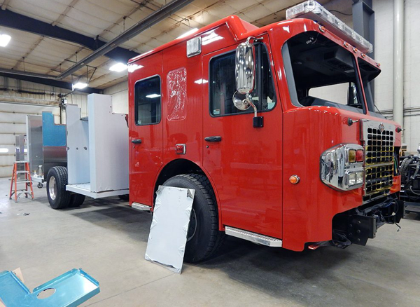 Spartan/Alexis fire engine being built for the Fox Lake FPD