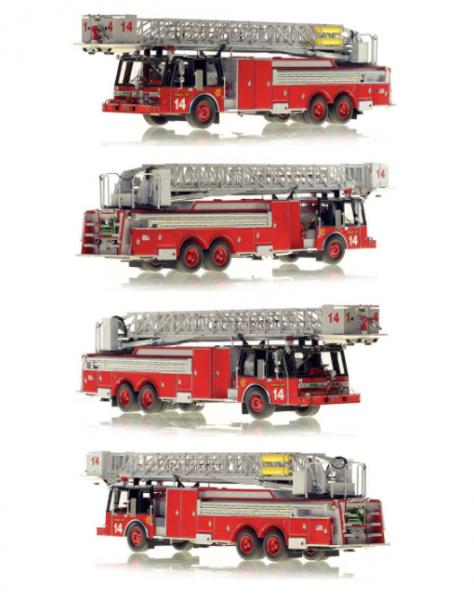 Chicago FD 1985 E-ONE tower ladder replica model of Tower Ladder 14