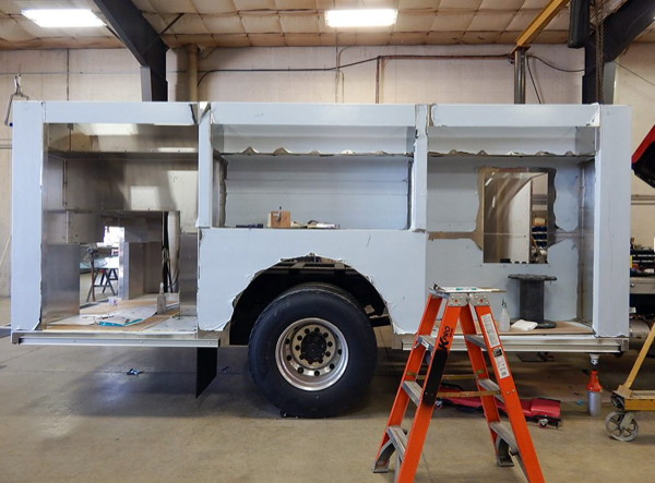 Alexis fire engine being built for the Fox lake FPD
