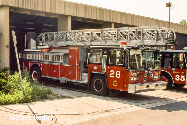 Hendrickson - E-ONE ladder truck in Chicago