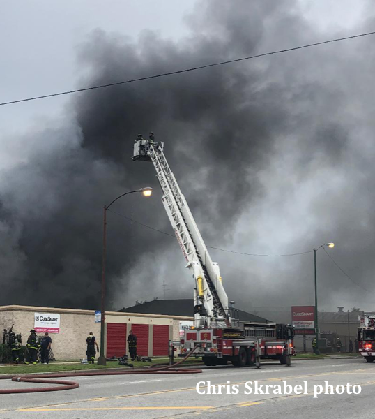 massive fire in self storage facility