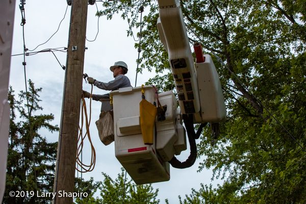 ComEd lineman at work