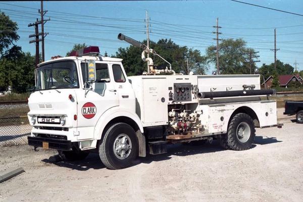 vintage Clark Oil Refinery fire truck
