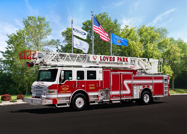 Loves Park FD Quint 1854
