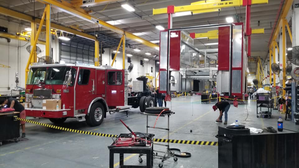 E-ONE fire truck being built so 142568
