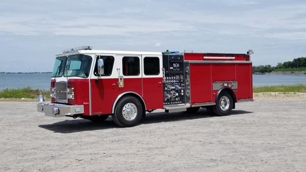 new fire engine for the Bellwood Fire Department