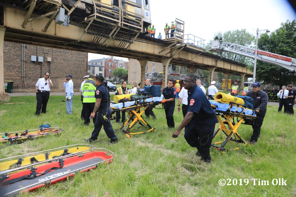 Chicago FD paramedics at a train derailment