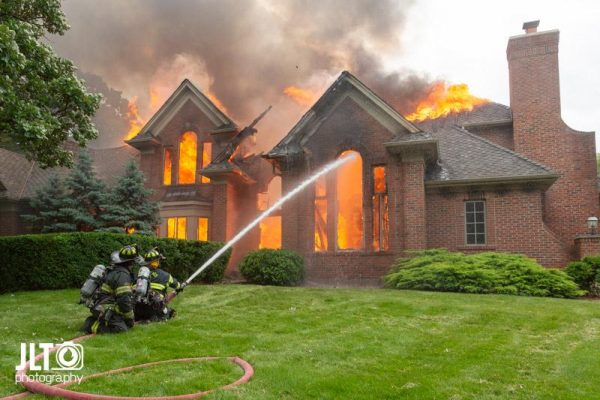 fire destroyed a home in the Village of Wayne IL