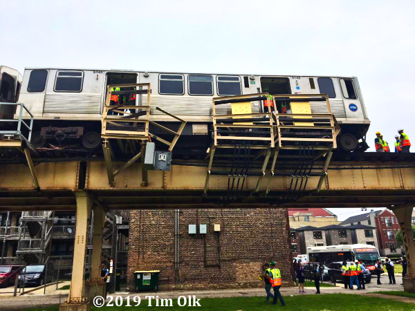 CTA elevated train derailment