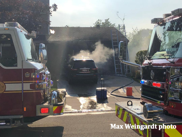 garage fire in Northbrook 6/22/19