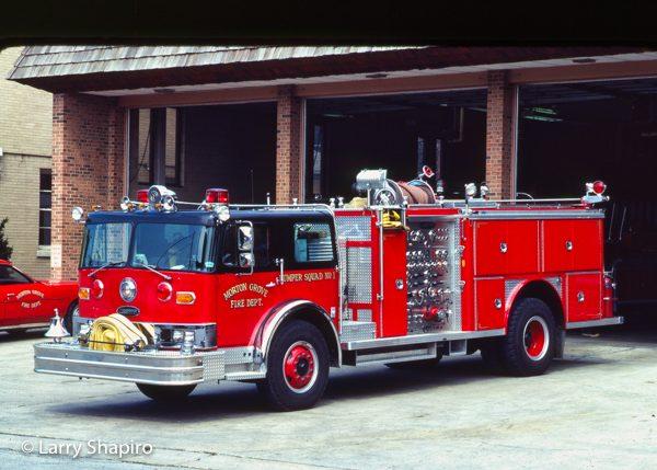 vintage Hendrickson 1871C/E-ONE fire engine