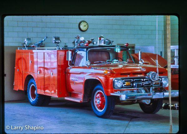 vintage Morton Grove FD Ford squad truck