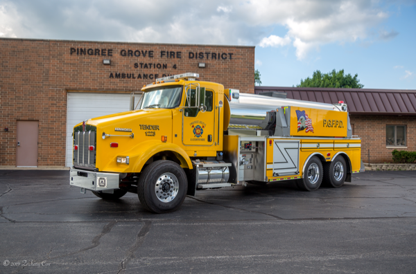 Kenworth/Alexis 3,000-gallon water tender
