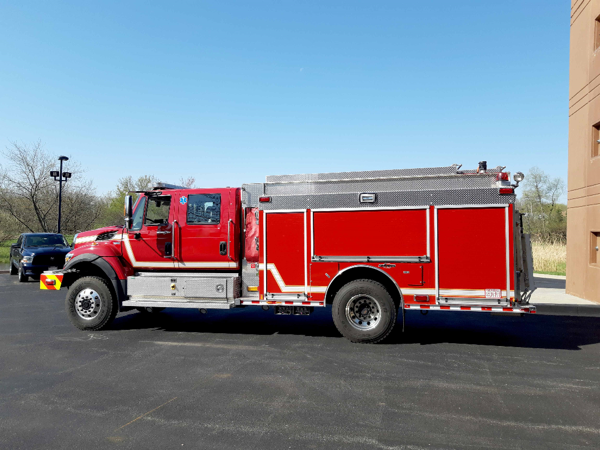 IHC Rosenbauer urban interface fire engine