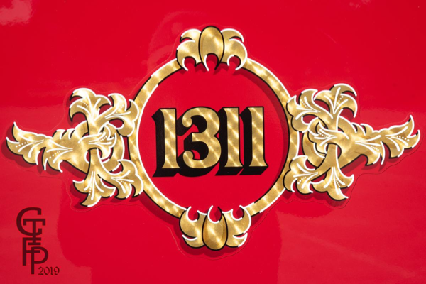 decal on fire engine door