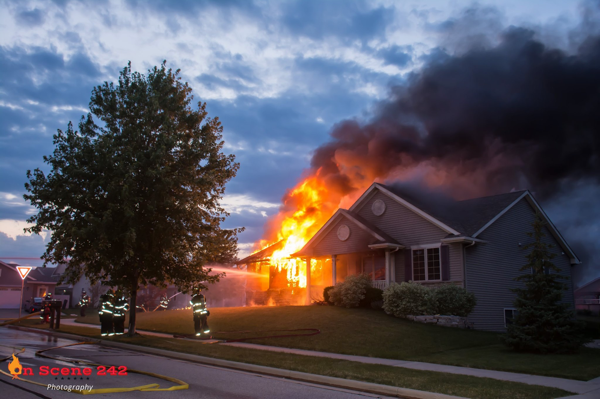house engulfed by fire