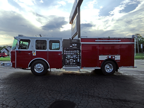 new fire engine for the Bellwood IL FD