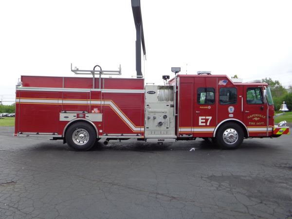 stainless steel E-ONE fire engine
