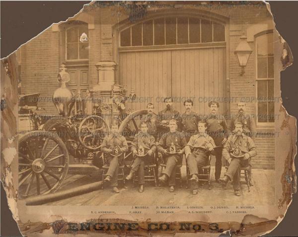 Chicago FD Engine Co 3 - 1882