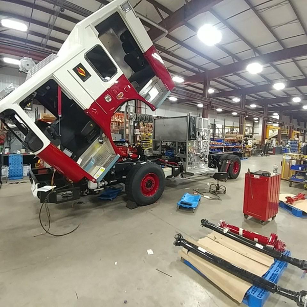 Seagrave Marauder fire engine being built
