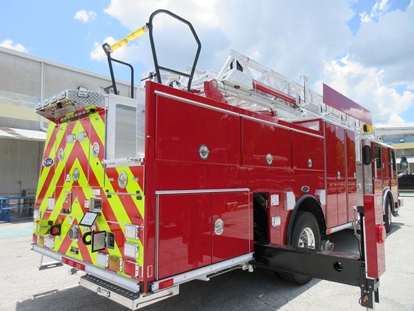 E-ONE fire truck being built