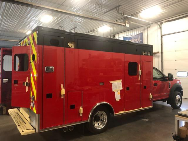Huntley FPD ambulance remount