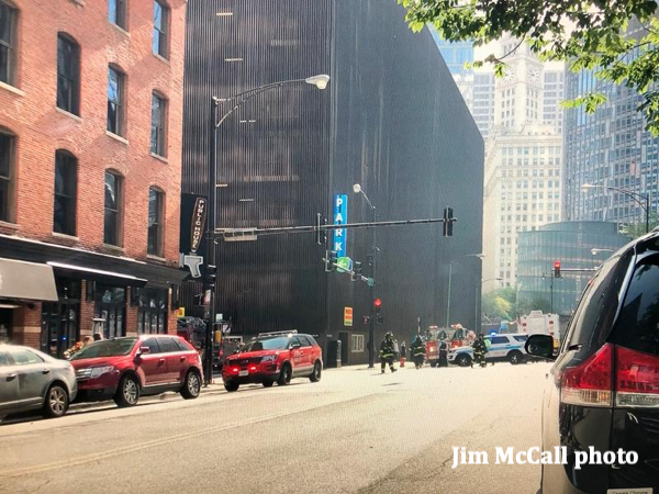 401 N Wabash Avenue in Chicago parking lot fire