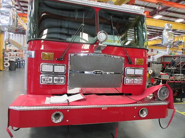 E-ONE fire truck being built for the Leyden Township FPD