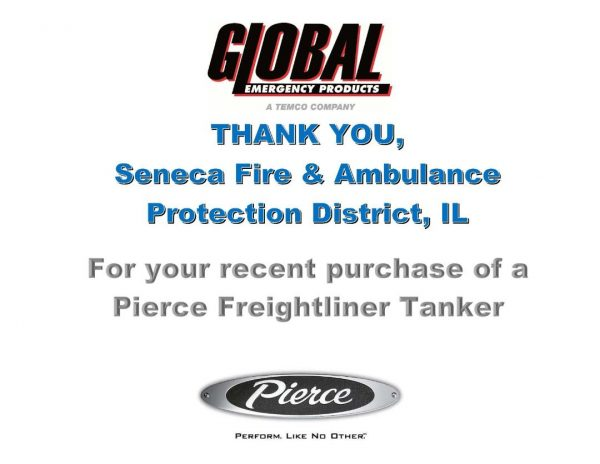 Seneca Fire & Ambulance Protection Distict orders new tanker
